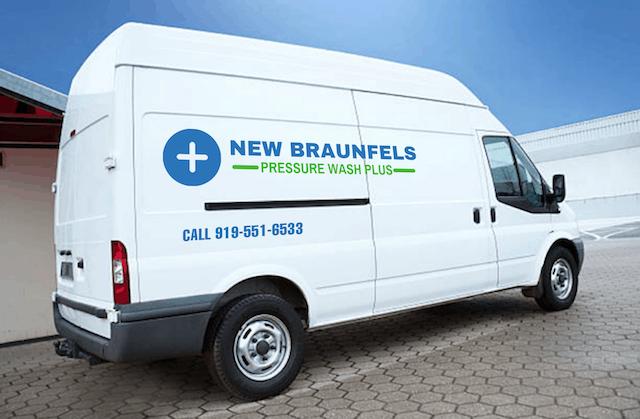 new braunfels pressure washing van
